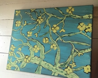 Floral Canvas Painting- Dogwood painting- Dogwood tree- Dogwood Blooms- Flower painting- Blooms painting- Acrylic Art- Flower Canvas Art