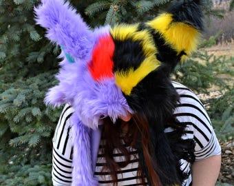 Umbreon / Espeon Eeveelutions Scoodie. Spirit Hood. Hat.