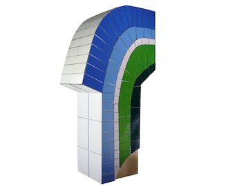 """""""A piece of my hometown on Hollywood blvd"""" sculpture, mosaic / art / minimal / postmodern / abstract / design / Architecture duck"""