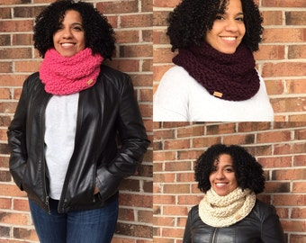 Hand Knit Chunky Infinity Scarf | Winter Scarf | Infinity Scarf | Gifts for Her ||| THE RIDGEFIELD