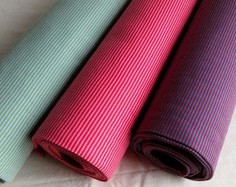 Striped cuff fabric pink, green, blue, Hilco cotton ribbing rib knit fabric tubular ribbed knit fabric  for waistband sleeves neckline