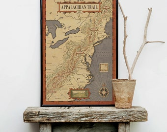 Appalachian Trail Map, The people's Trail Map, Hiking trail map, america trail map,