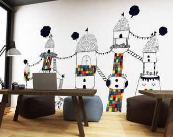 Top Hill Removable Mural Wallpaper | LSB0113WPP-PTN