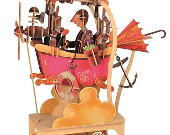 Junk Air - an automata kit for you to build - with finished artwork - LMS 200