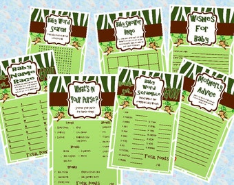 Monkey Themed  Baby Shower Game Pack {Digital File Only}
