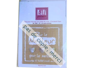 "Cross stitch pattern, Llipoints, ""pour le meilleur"", cross stitch designs,"