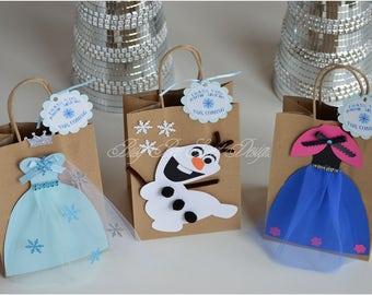 Frozen Party Favor Bags / Queen Elsa / Princess Anna / Olaf / Frozen Party Theme