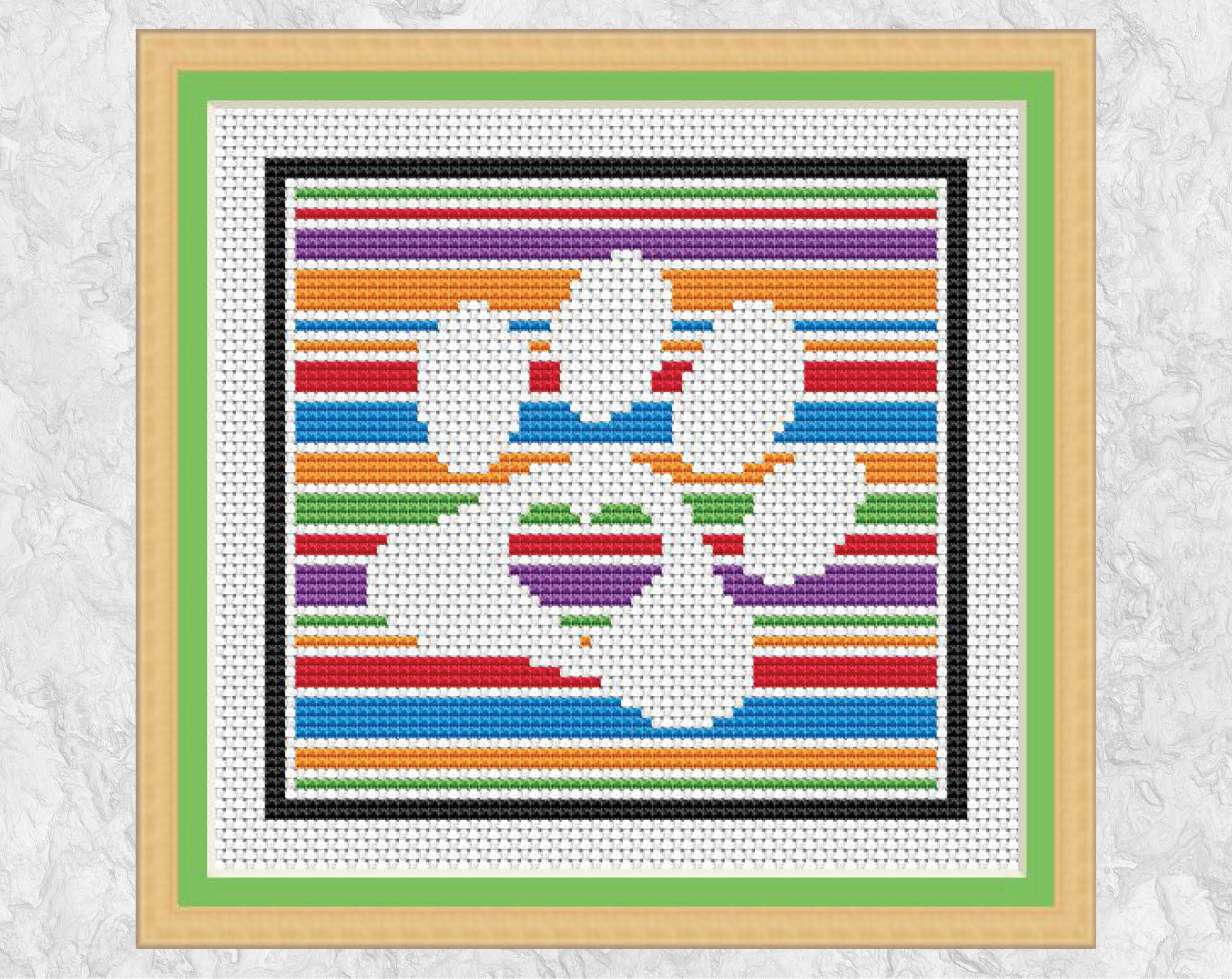 Easy Paw Print Cross Stitch Pattern Printable Dog Counted