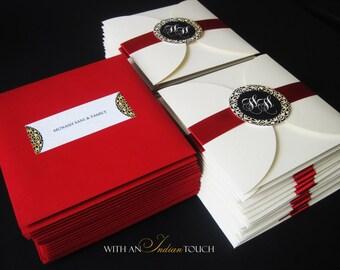 Regal Wedding Invitation Suite- SAMPLE