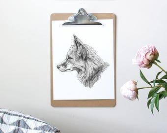 Fox Art, Fox Wall Art, Fox Nursery, Kids Room Art, Woodland Art, Woodland Nursery Art, Fox Print, Nursery Wall Art, Fox Artwork, Fox Decor