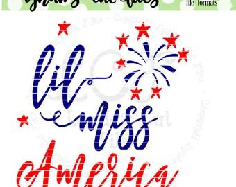 Little Miss America  SVG/DXF file