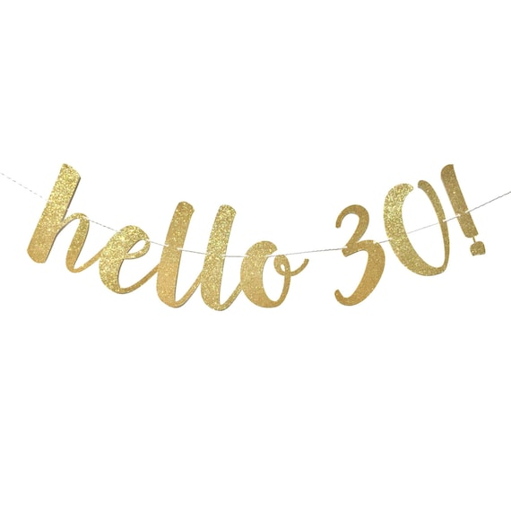 30th birthday decorations hello 30 birthday banner 30th for 30 birthday decoration