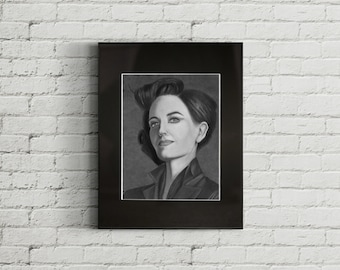 Miss Peregrine, Graphite Drawing Print