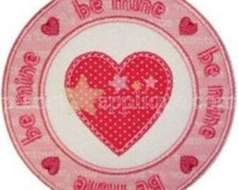 Be Mine  Iron On Patch Applique Machine Embroidered Iron On Applique Valentine