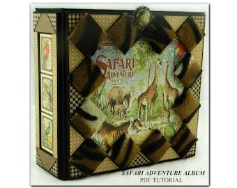Safari Adventure Mini Album PDF Tutorial, Graphic 45, Mini Album Tutorial, Scrapbook Tutorial, Scrapbook Album Tutorial