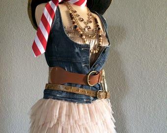 XXS Pirate Halloween Costume Including Jewelry + Belts
