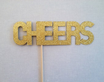 Glitter Cheers Photo Booth Prop - Wedding Photo Booth Props - Birthday Photobooth