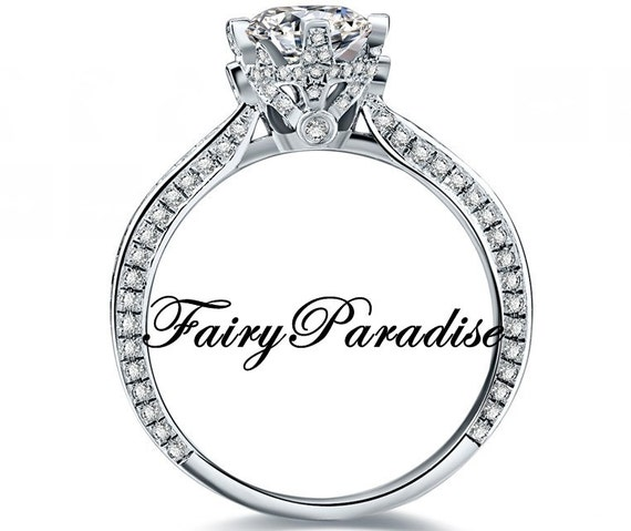 Vintage Style Engagement Ring / Promise Rings with 1 Ct Round