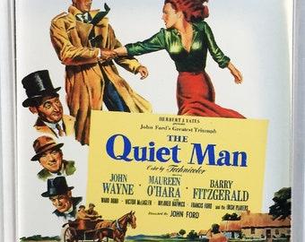 The Quiet Man John Wayne Maureen O'Hara Ward Bond movie poster movie poster Square Fridge Magnet and Square Keyring Version 3 - New