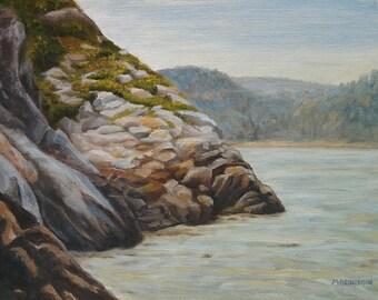 Original Oil Painting, Rocky Coast, 11x14 Landscape