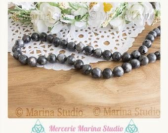 10 pearls 10mm labradorite spectrolite quality AA +