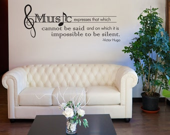 Vinyl Wall Decal Sticker Victor Hugo Music Quote OSDC524s