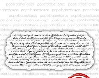 A Lot Like Christmas - Paperbabe Stamps - Red Rubber Mounted Stamps - Christmas Carol for paper crafting and scrapbooking.