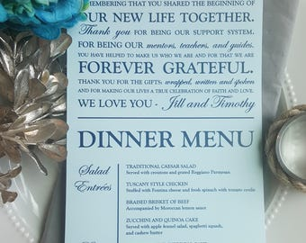 Wedding Menu and Thank You    Menu    Thank You   Wedding Menu - Style 24 Elegant Collection
