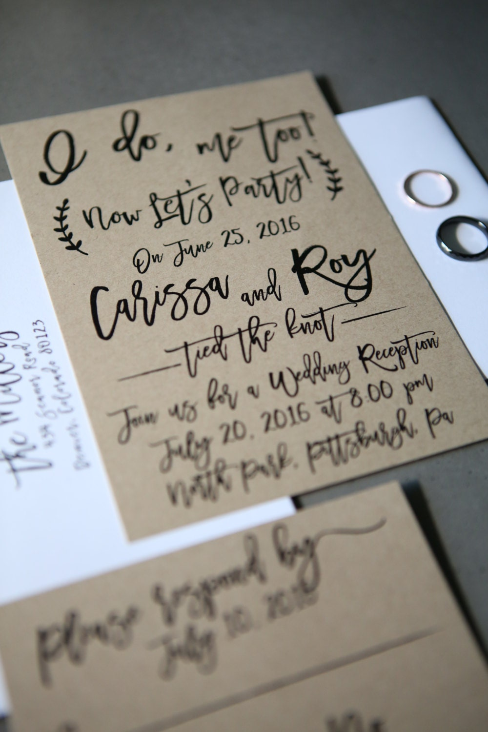 i do me too now lets party elopement wedding