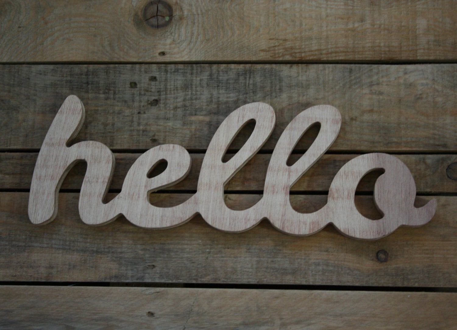 Hello wooden sign home decor word handwritten typography zoom biocorpaavc Choice Image