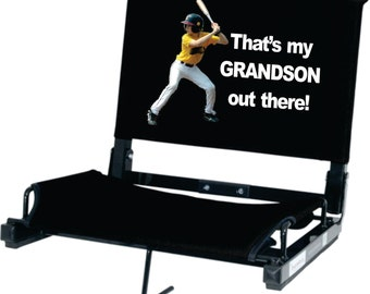 """Get """"The Original"""" Patented Stadium Chair Custom Printed!   - Now Deluxe WIDE model available!"""