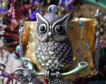 "Sale-New Cuff Jewelry by Cindy "" The Sweetest Owl """