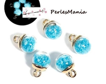 PAX 10 GLOBES s glass bubble pendant light the night blue Turquoise S1193086