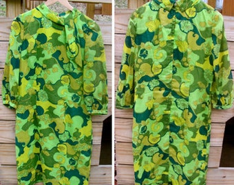 Vintage Pucci-Style 1950s-1960s Tunic Wiggle Knee-Length Dress by Jean Lang Originals