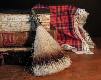 Vintage Antique Scottish Horsehair Kilt Pin / Rifle Hat Pin / Scottish Brooch / Sporran