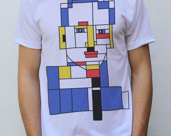 Piet Mondriaan portret T shirt