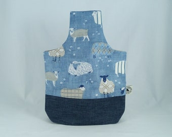 """Purse hook nomad """"sheep"""" jeans and cotton knitting project"""