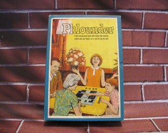 PHLOUNDER Word Game from 3M 1962 COMPLETE bell letter tiles