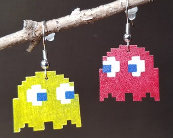 Pac Man Ghosts - Choose your pair! - Shrinky Dink Earrings