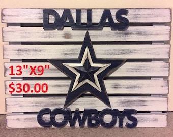 Rustic Dallas Cowboys Sign