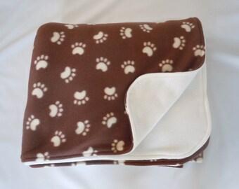 Paw Prints Fleece Blanket - Extra Large