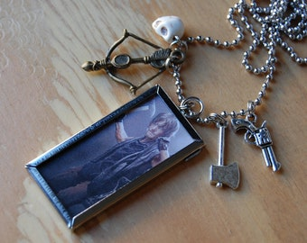 Daryl Dixon Necklace, Double Sided with 4 Charms