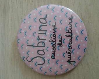 Badge pattern for nurse, caregiver Rainbow...
