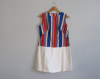 Summer playsuit or romper by Miami Originals, Union Jack inspired mod 'dress'