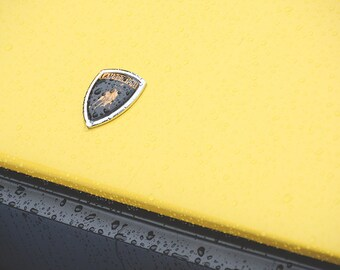 Lamborghini Vehicle Logo Emblem Yellow Art Print Wall Decor Image - Unframed Poster