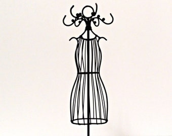 Small Metal Dress Mannequin/Tabletop Wire Jewelry Mannequin/Bridal Shower Centerpiece/Princess Party/Quinceanera Decoration/Tutu Form