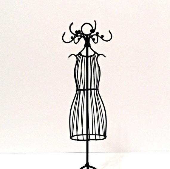 Small Metal Dress Mannequin/Tabletop Wire Jewelry Mannequin/Bridal ...