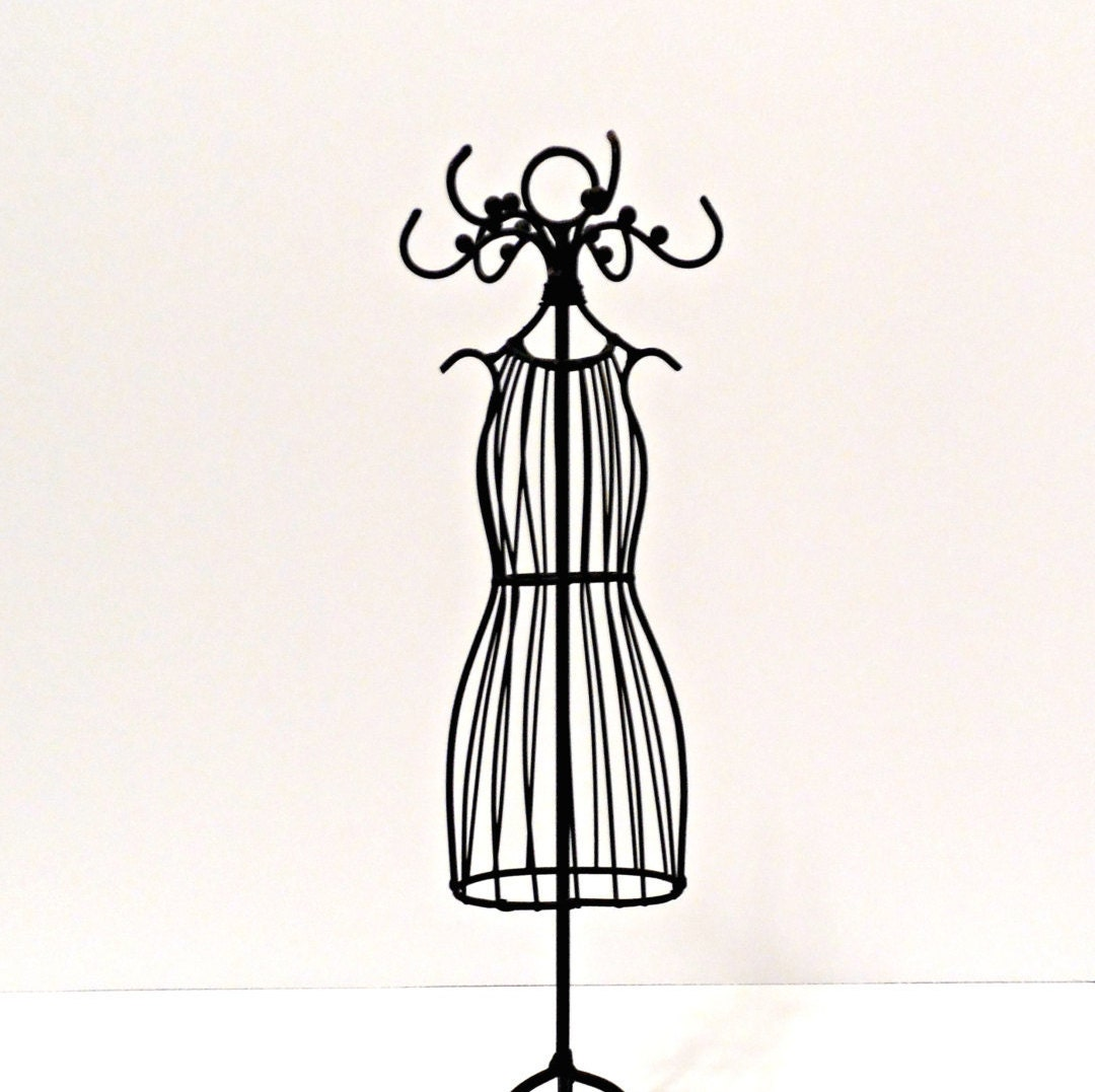 Small Metal Dress Mannequin/Tabletop Wire Jewelry