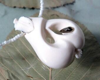 Pear, porcelain necklace