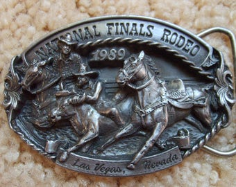 Rodeo Buckle, National Finals Rodeo Las Vegas 1989